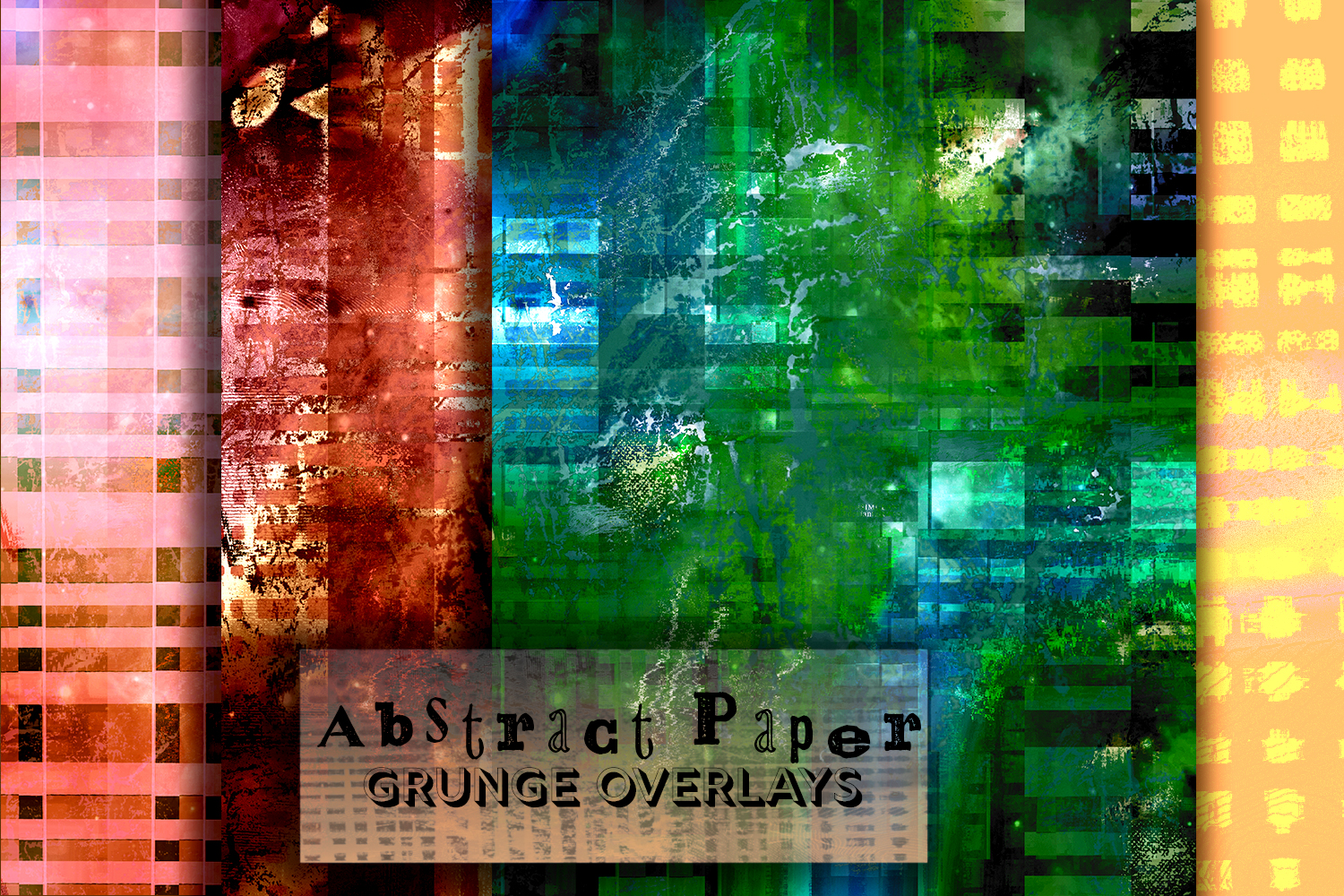 15 inky Distressed Textures. Abstract grunge themes. Ink Art example image 4