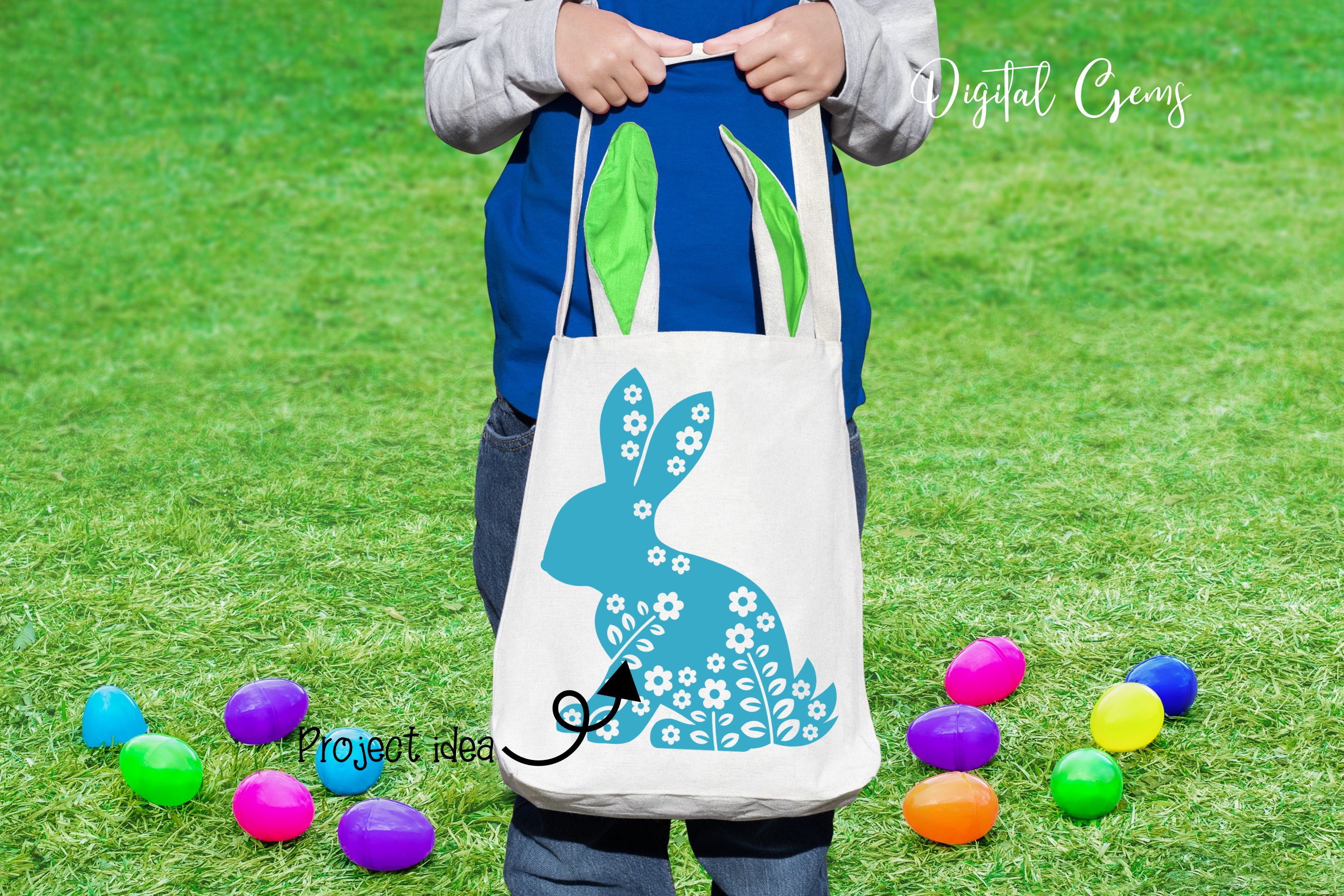 Rabbit, Easter SVG / DXF / EPS / PNG files example image 2