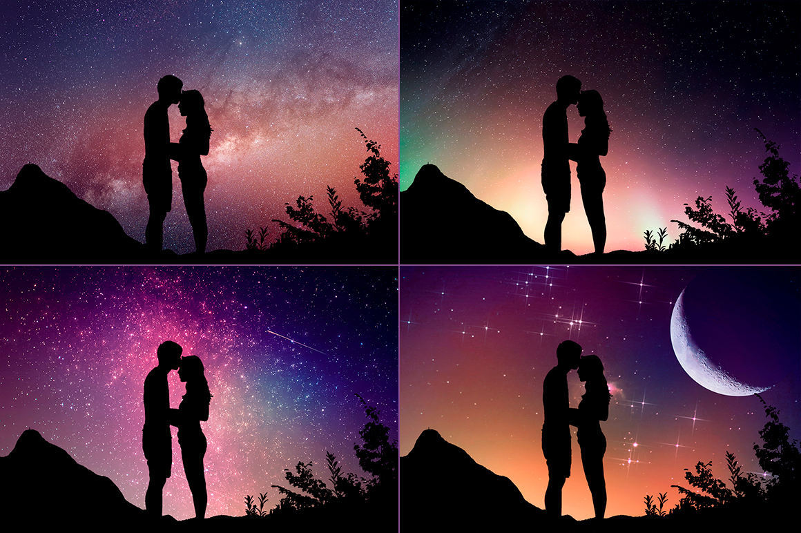 Night Sky Silhouette Actions example image 3