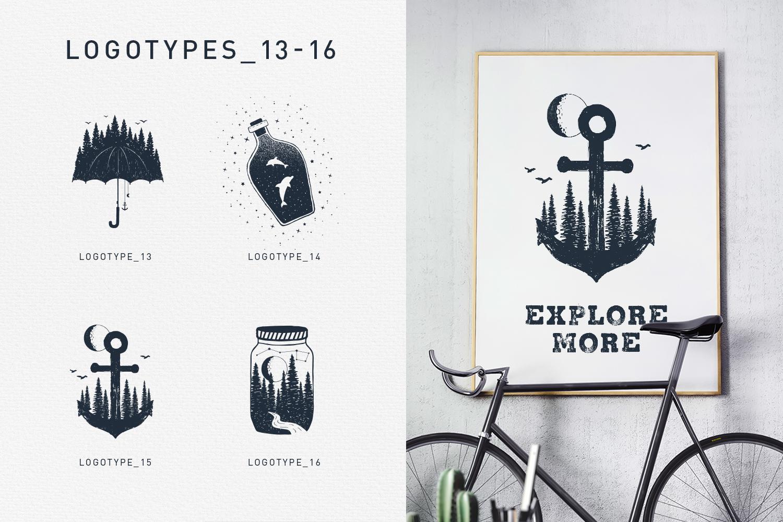 Double Exposure. 20 Creative Logos example image 9
