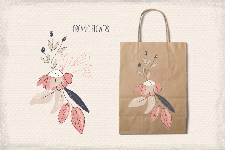 Organic Flowers example image 4