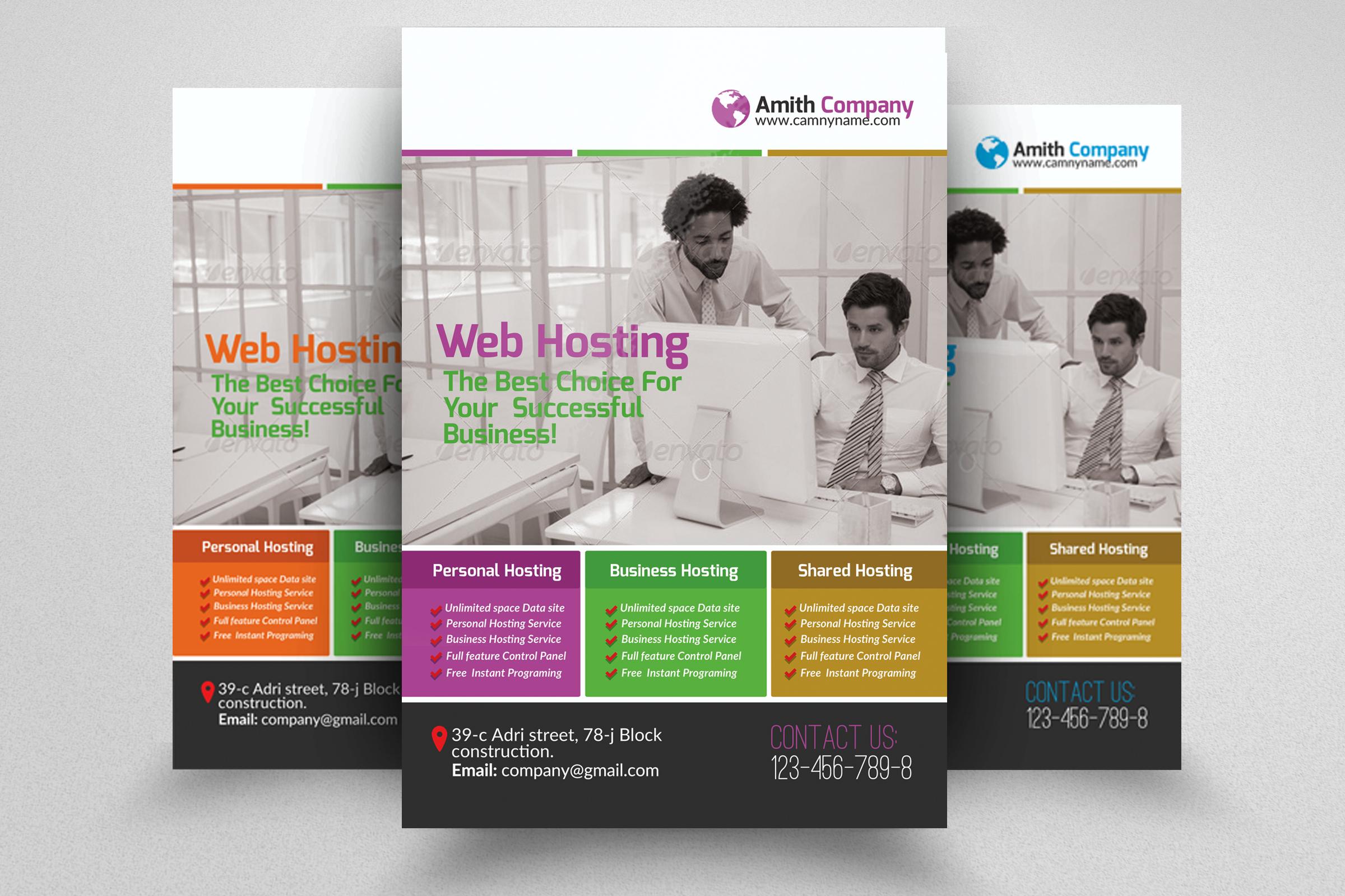 6 Web Hosting Business Flyers Bundle example image 7