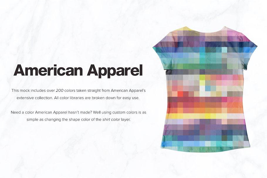 8 Premium Girl's T-Shirt Mockups example image 4