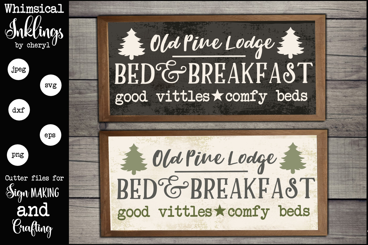 Old Pine Lodge SVG example image 1