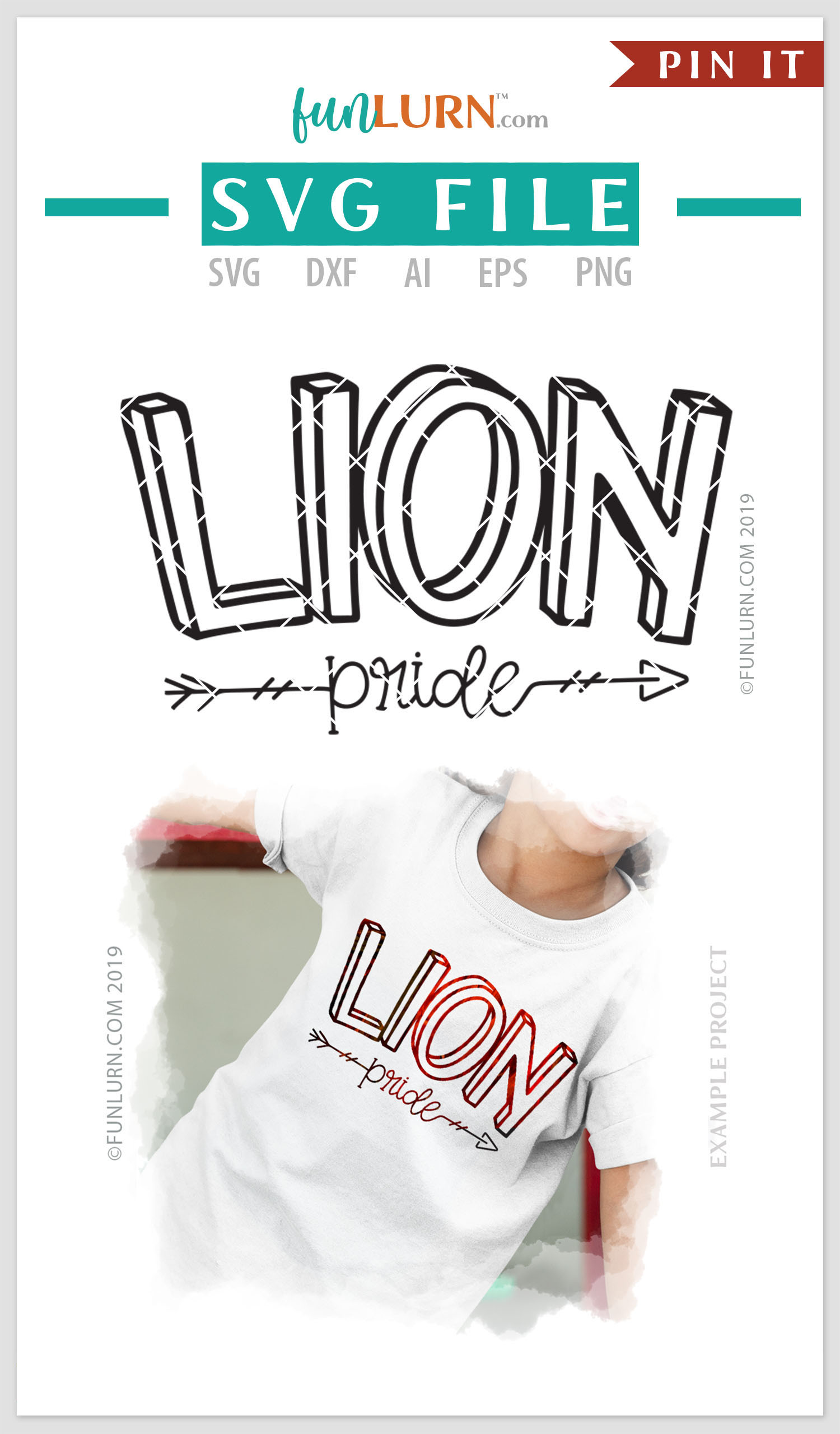 Lion Pride Team SVG Cut File example image 4