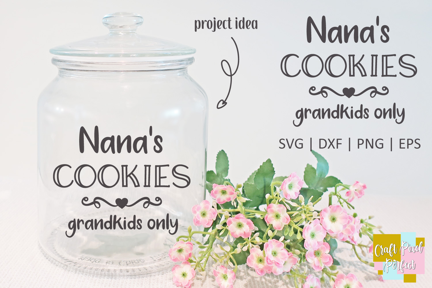Nana's Cookies - Grandkids Only - SVG, EPS, DXF, PNG example image 1