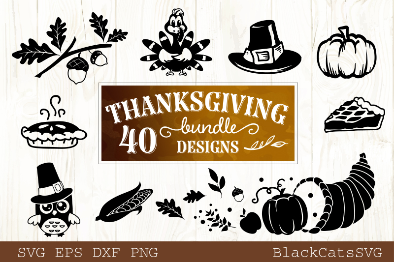 Thanksgiving SVG bundle 40 designs Fall and pumpkins SVG bun example image 3