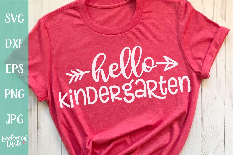 Hello Kindergarten - School SVG for Crafters example image 1