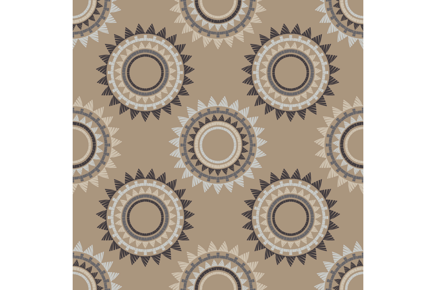 Polka dot ethnic ornament. Set of 10 seamless patterns. example image 5