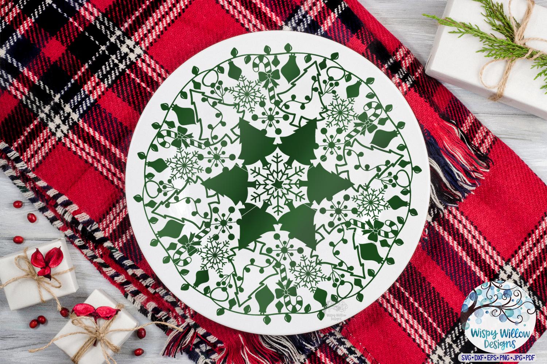 Winter Mandala SVG Bundle | Christmas Mandala SVG Cut Files example image 12