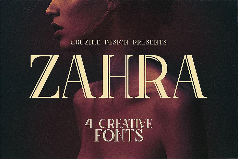 Zahra Typeface example image 1