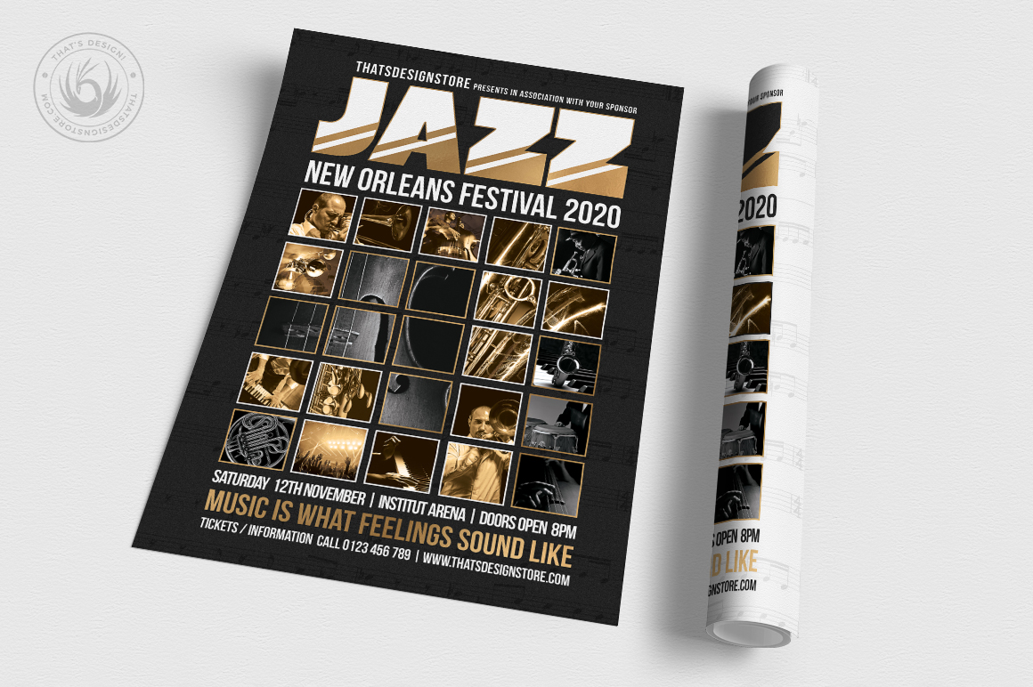 Jazz Festival Flyer Template V9 example image 3