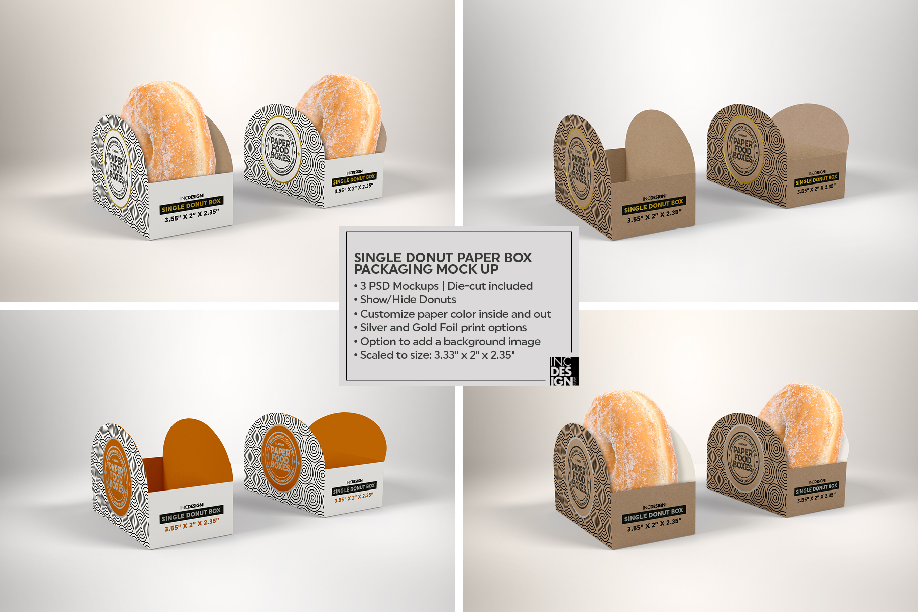VOL.11 Food Box Packaging MockUps example image 6