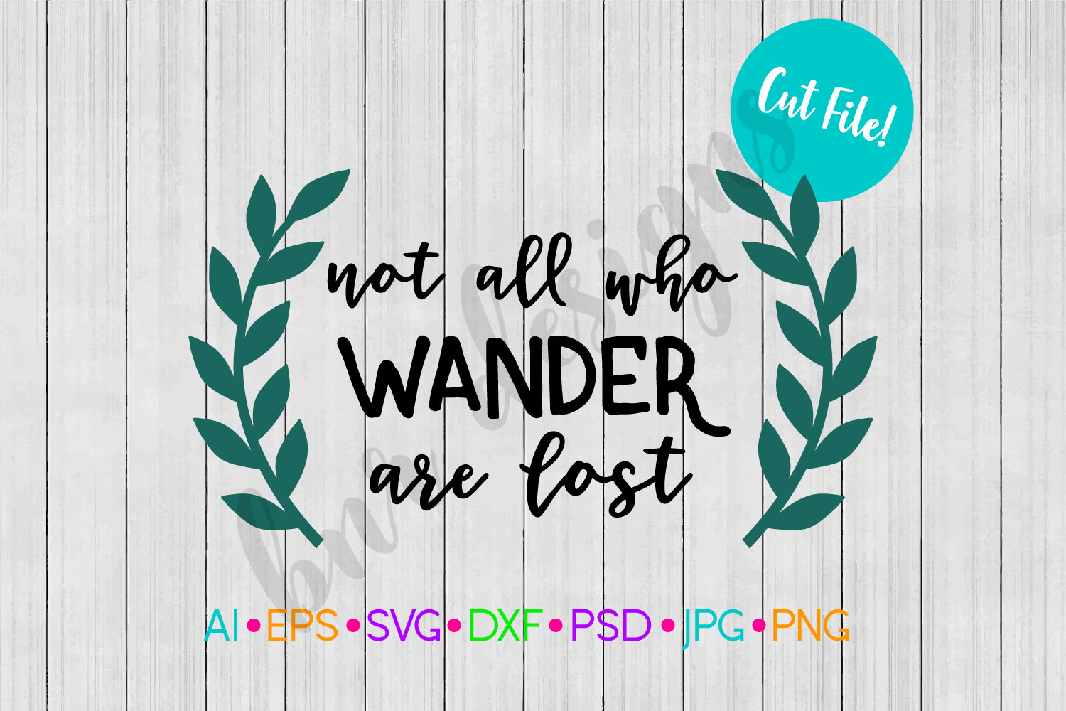 Not all who Wander are Lost SVG, Adventure SVG, SVG File example image 1