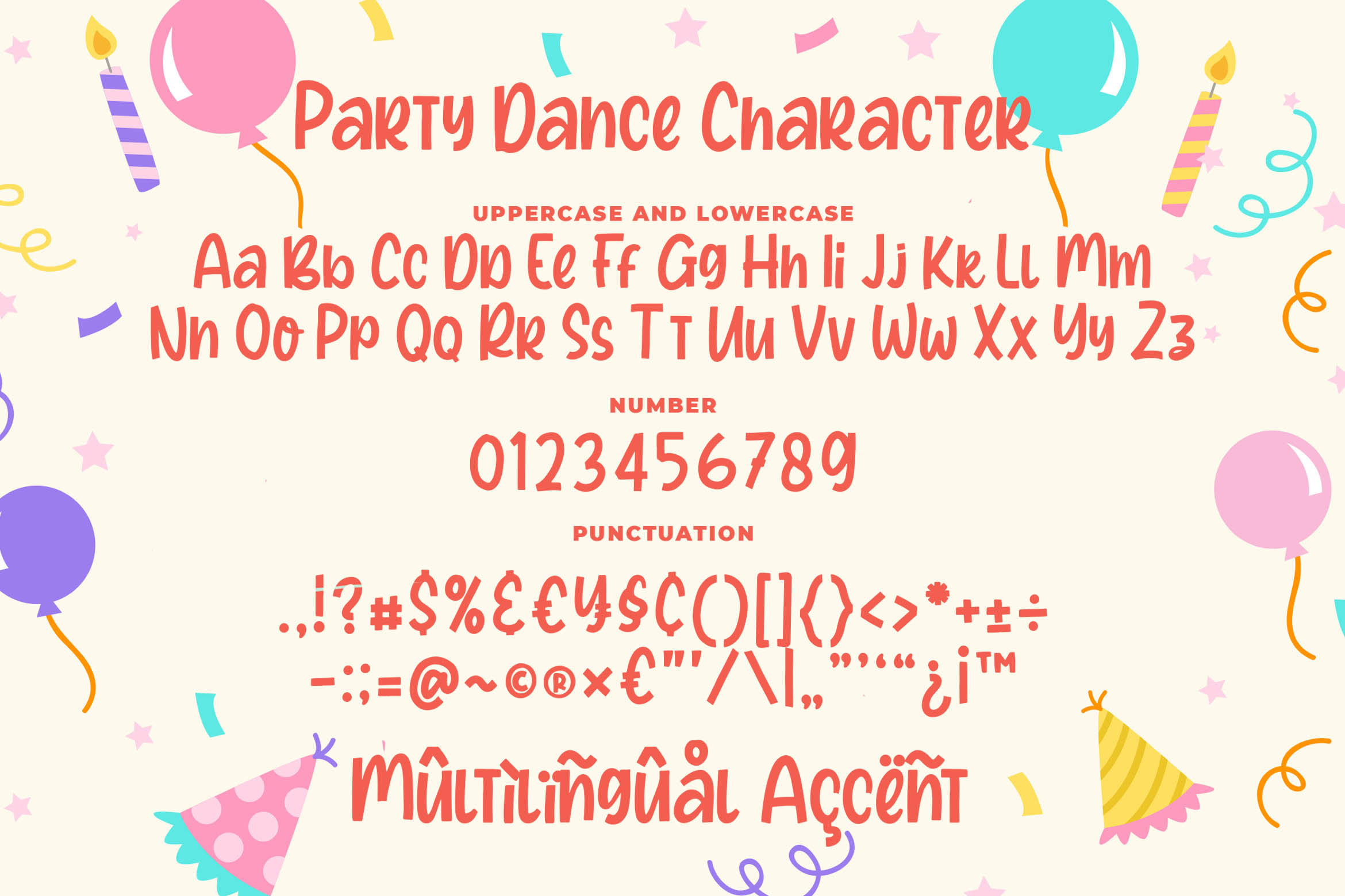 Party Dance - a Quirky Font example image 7