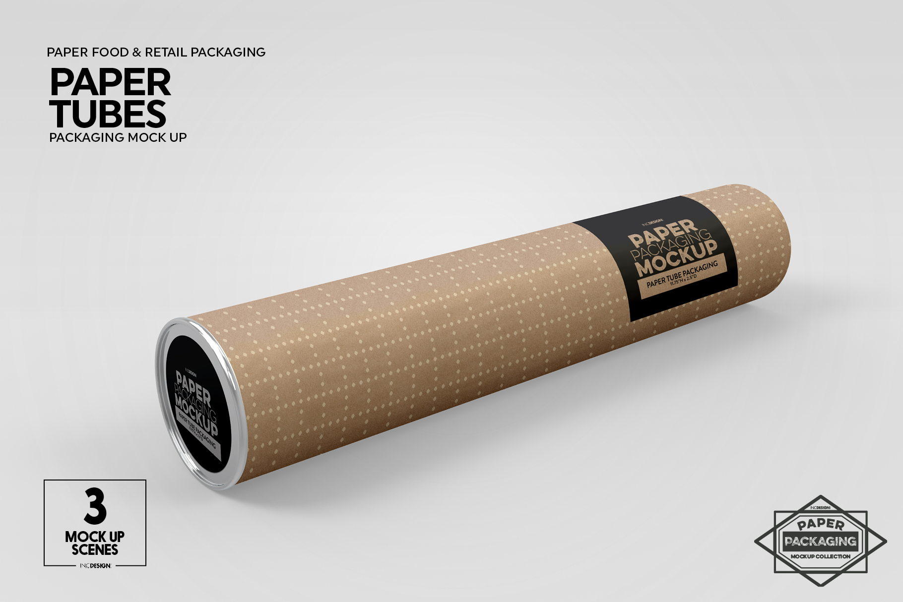 Paper Tube Packaging Mockup example image 7