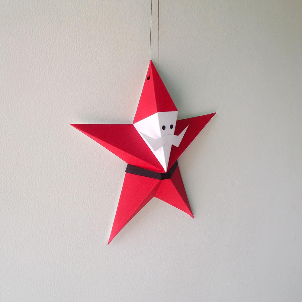 DIY Star Santa Claus - 3d papercraft example image 2