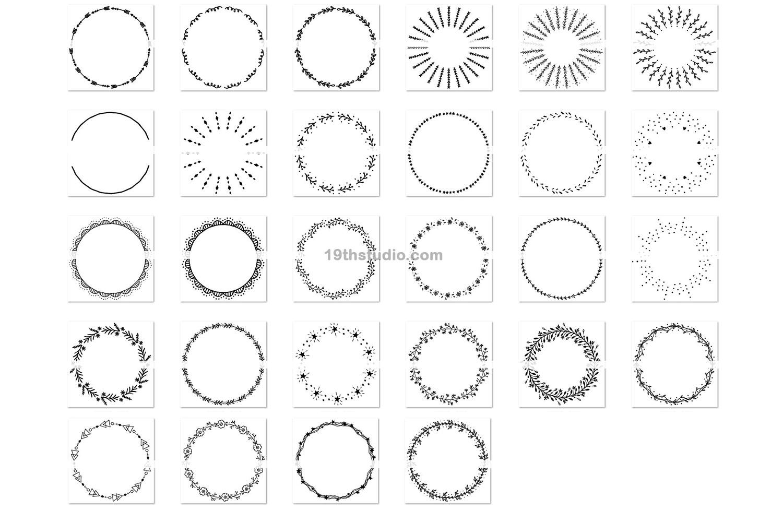 100 Wreaths and Circles SVG Bundle -VB example image 4