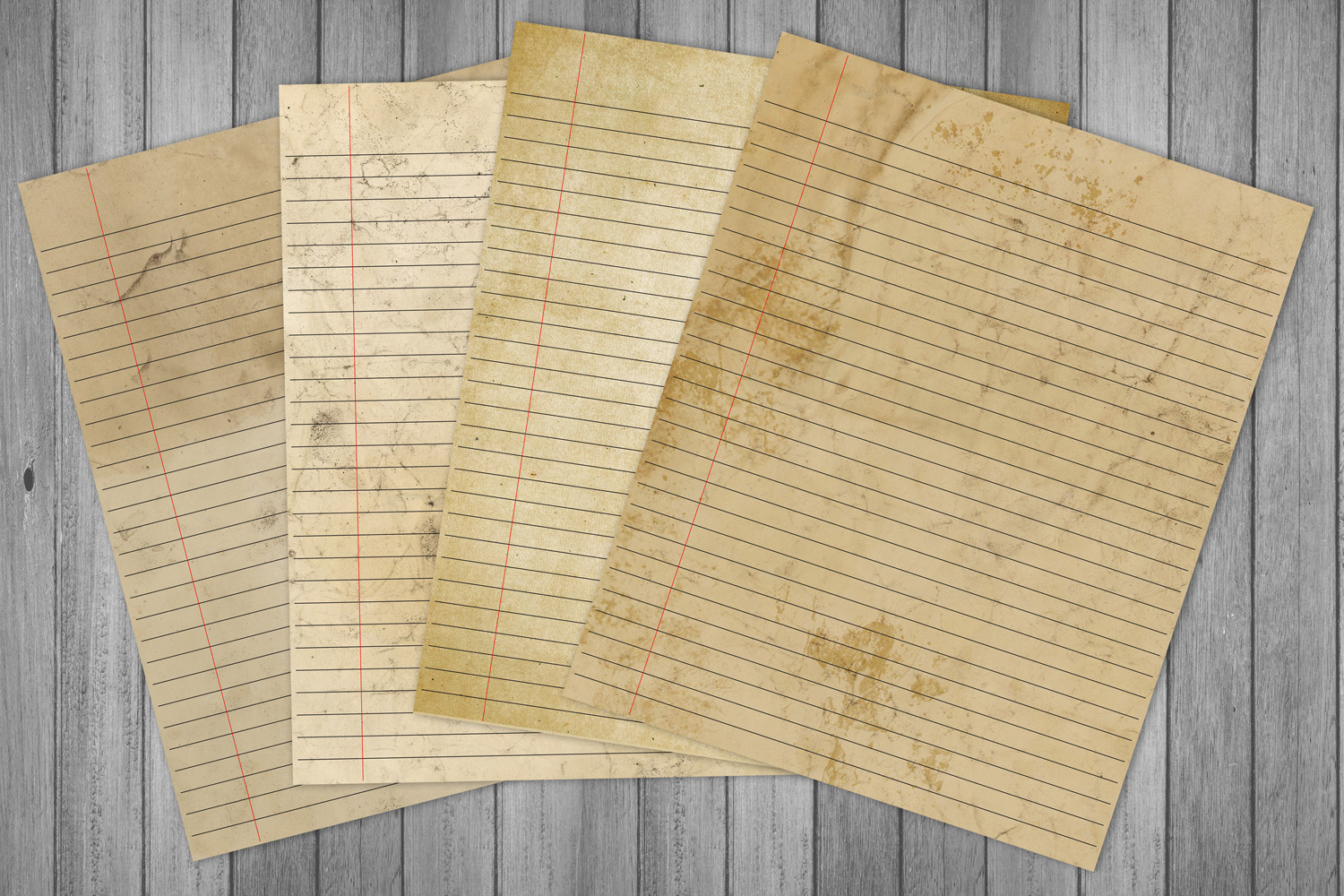 Distressed Writing Paper example image 5
