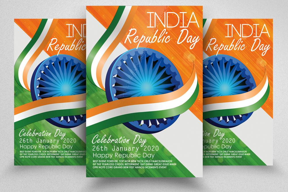 Indian Republic Day Celebration Flyer example image 1