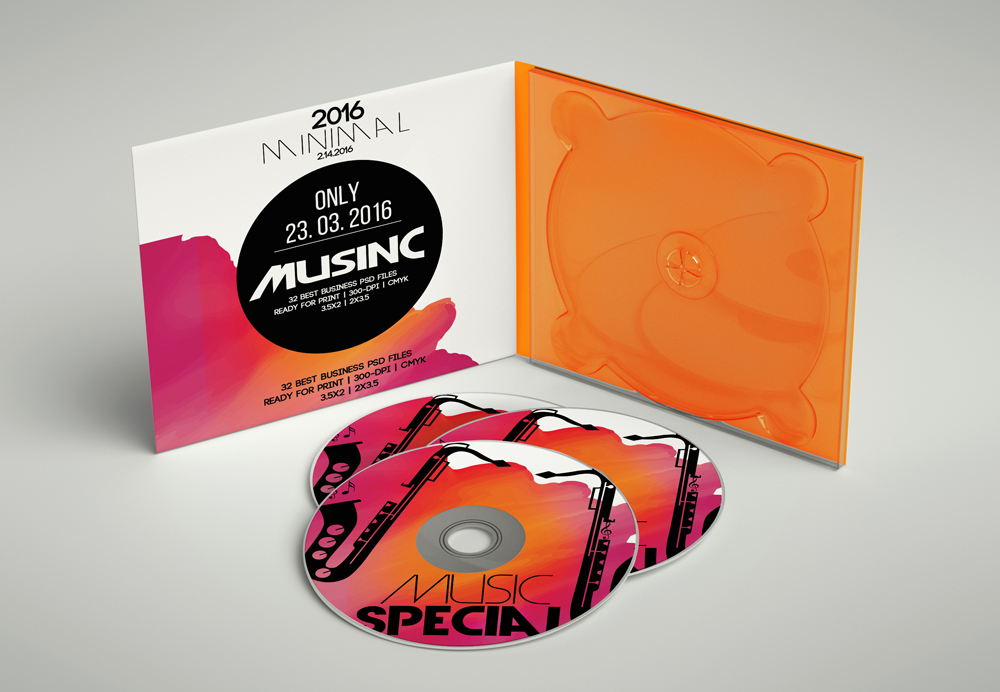 CD Covers Templates ( NOT a Mockup ) example image 3