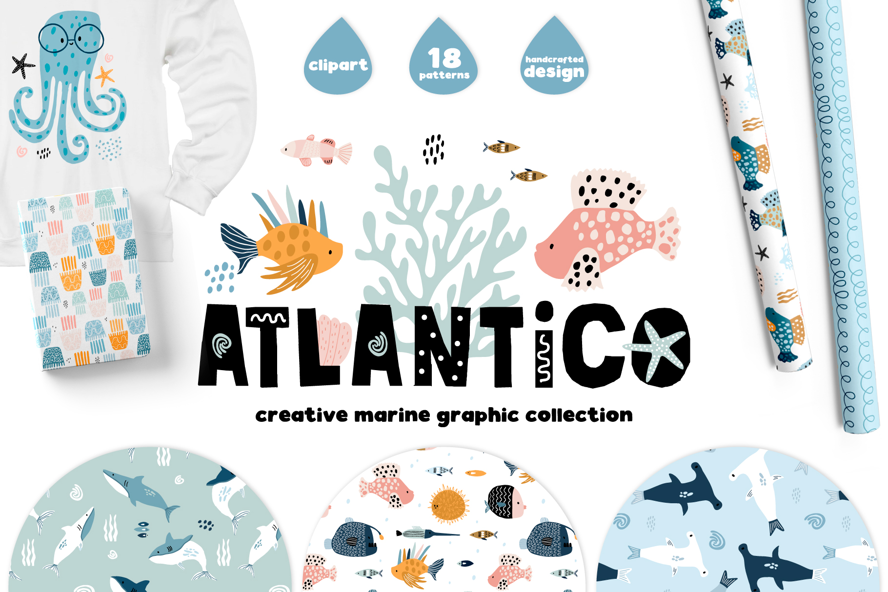 ATLANTICO. Marine graphic collection example image 1