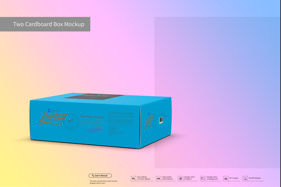 Two Cardboard Box Mockup example image 7
