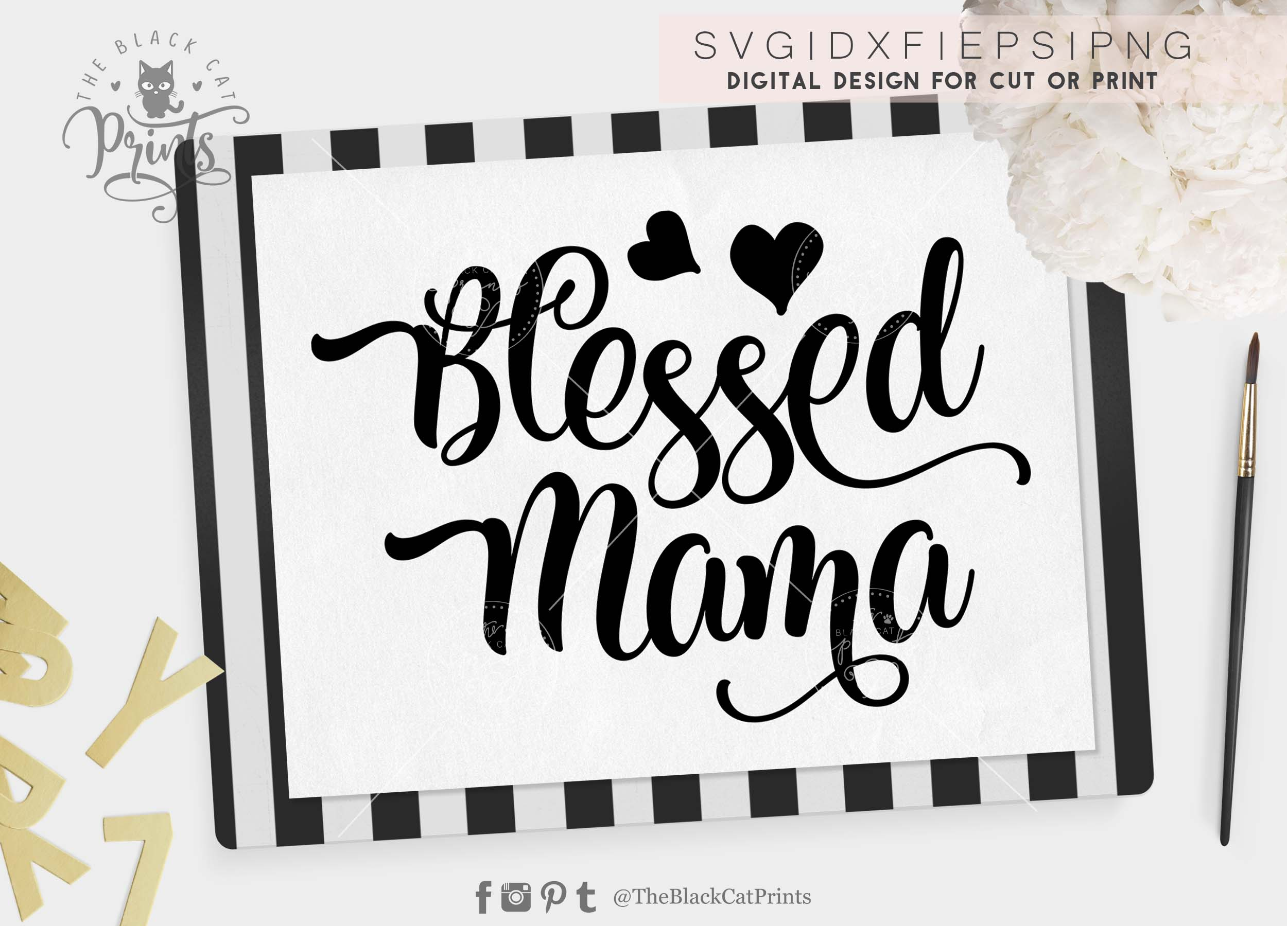 Blessed Mama SVG PNG EPS DXF example image 5