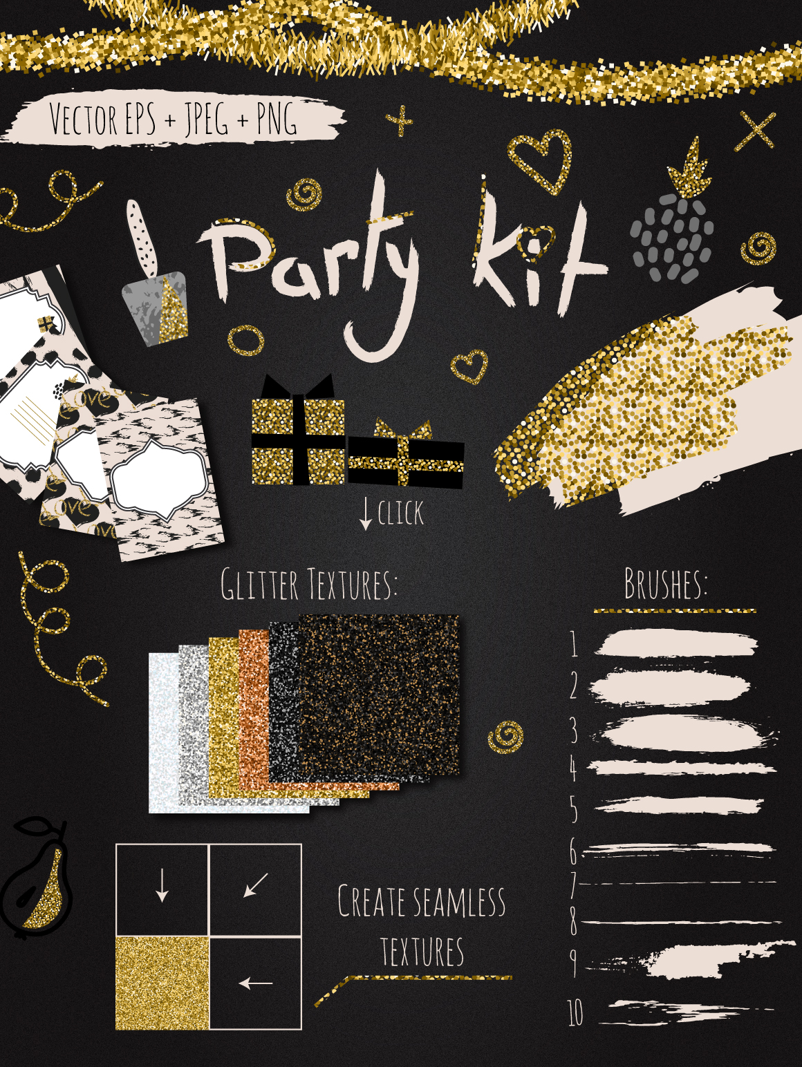DIY Glam Party Kit - 100 elements! example image 1
