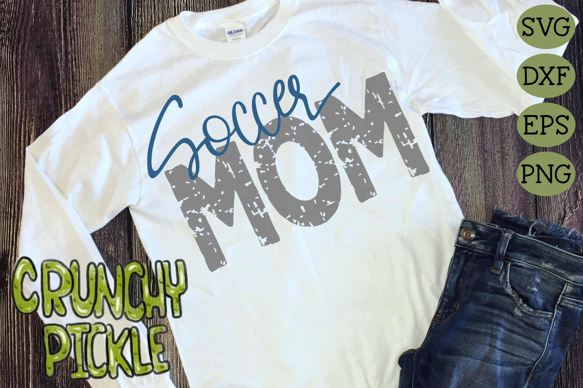 Soccer Mom & Bonus Team Mom Sports SVG Cut File example image 2