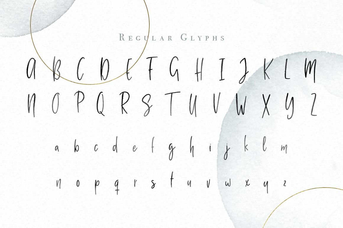 Milano Sky Signature Script Font example image 3
