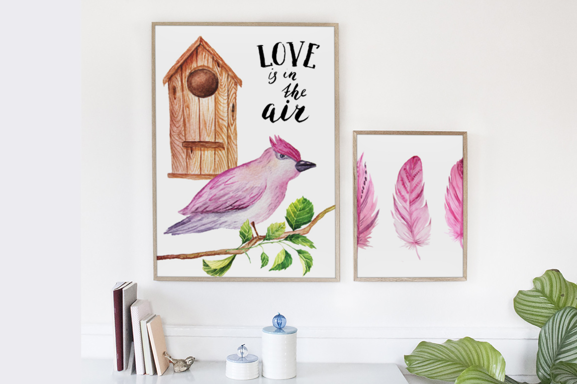 Watercolor Valentine's Day BUNDLE example image 13