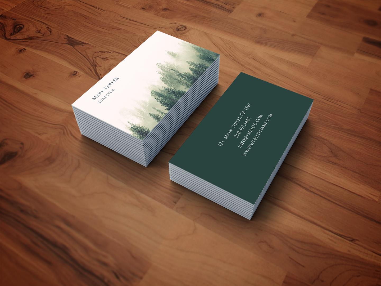 Green Natural Pattern art card example image 2
