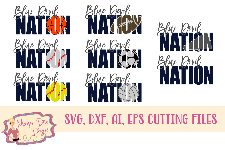 Blue Devil Nation SVG, DXF, AI, EPS example image 1