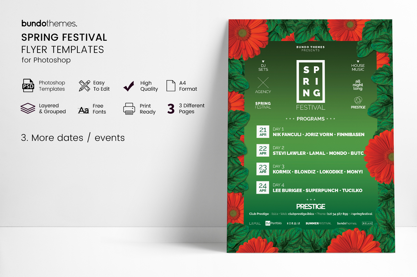 Spring Festival Flyer Template example image 5