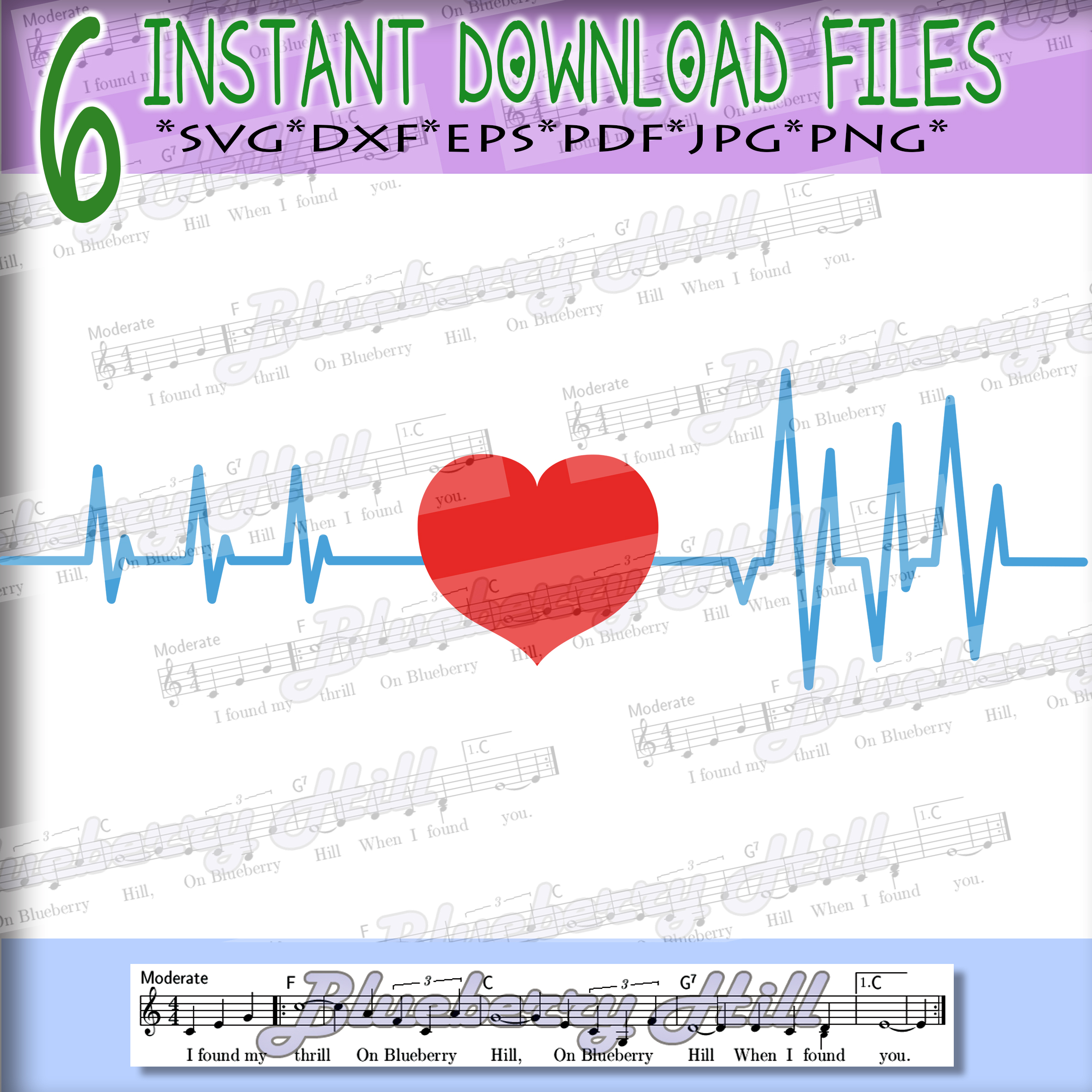 Heartbeat Svg - Valentine's day SVG - Love Heart Svg - Heart example image 1
