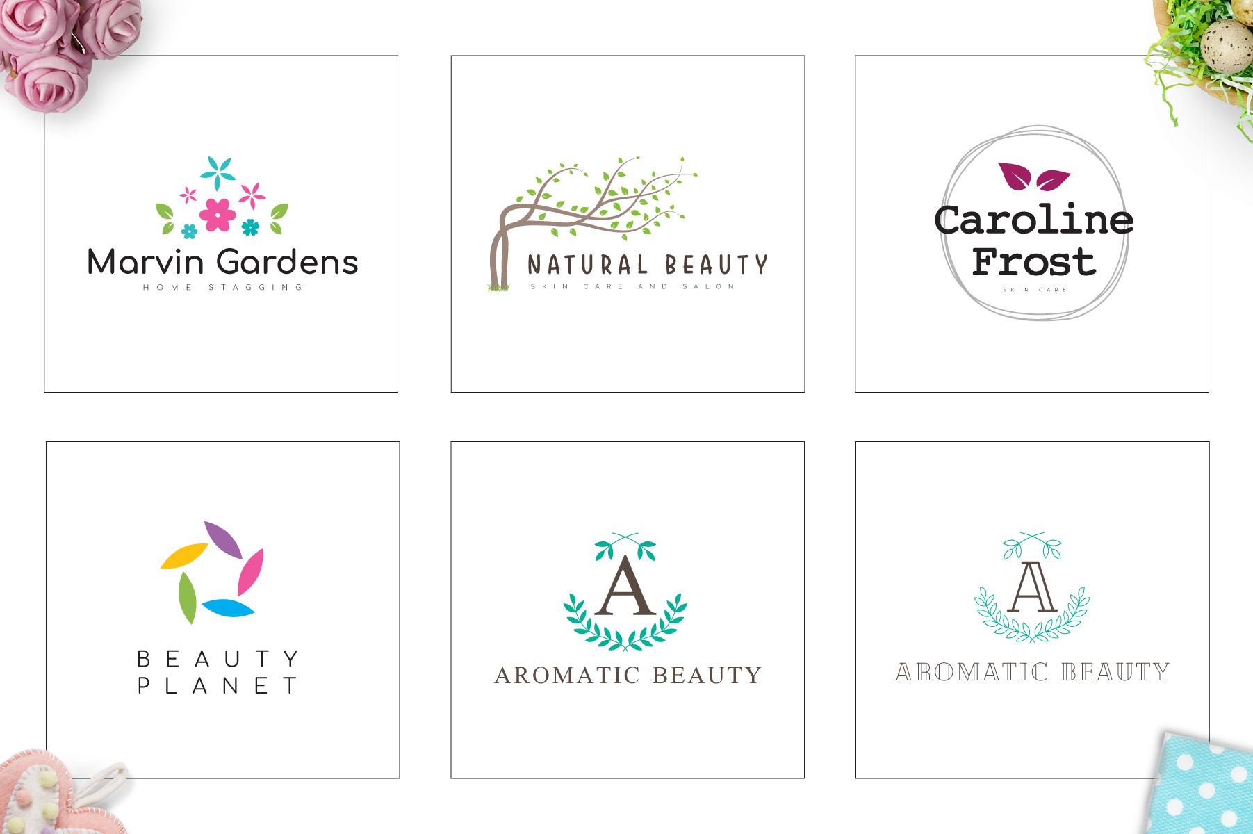 70 Elegant Floral Logo Bundle example image 14