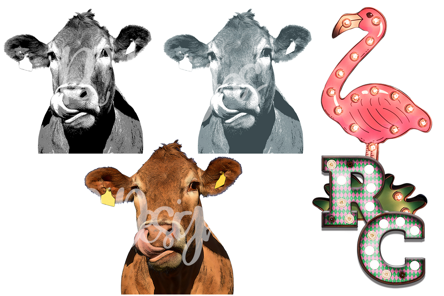Cow Clipart Bundle example image 1