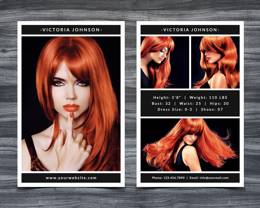 Model Comp Card Template example image 1