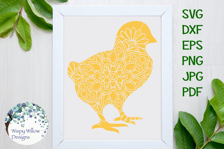 Chick Mandala, Easter, Spring SVG example image 1