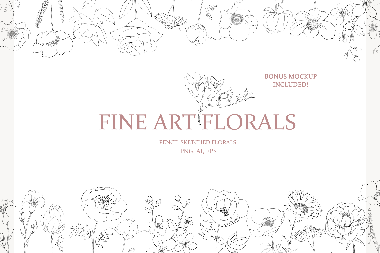 Fine Art Florals - Pencil Sketches example image 1