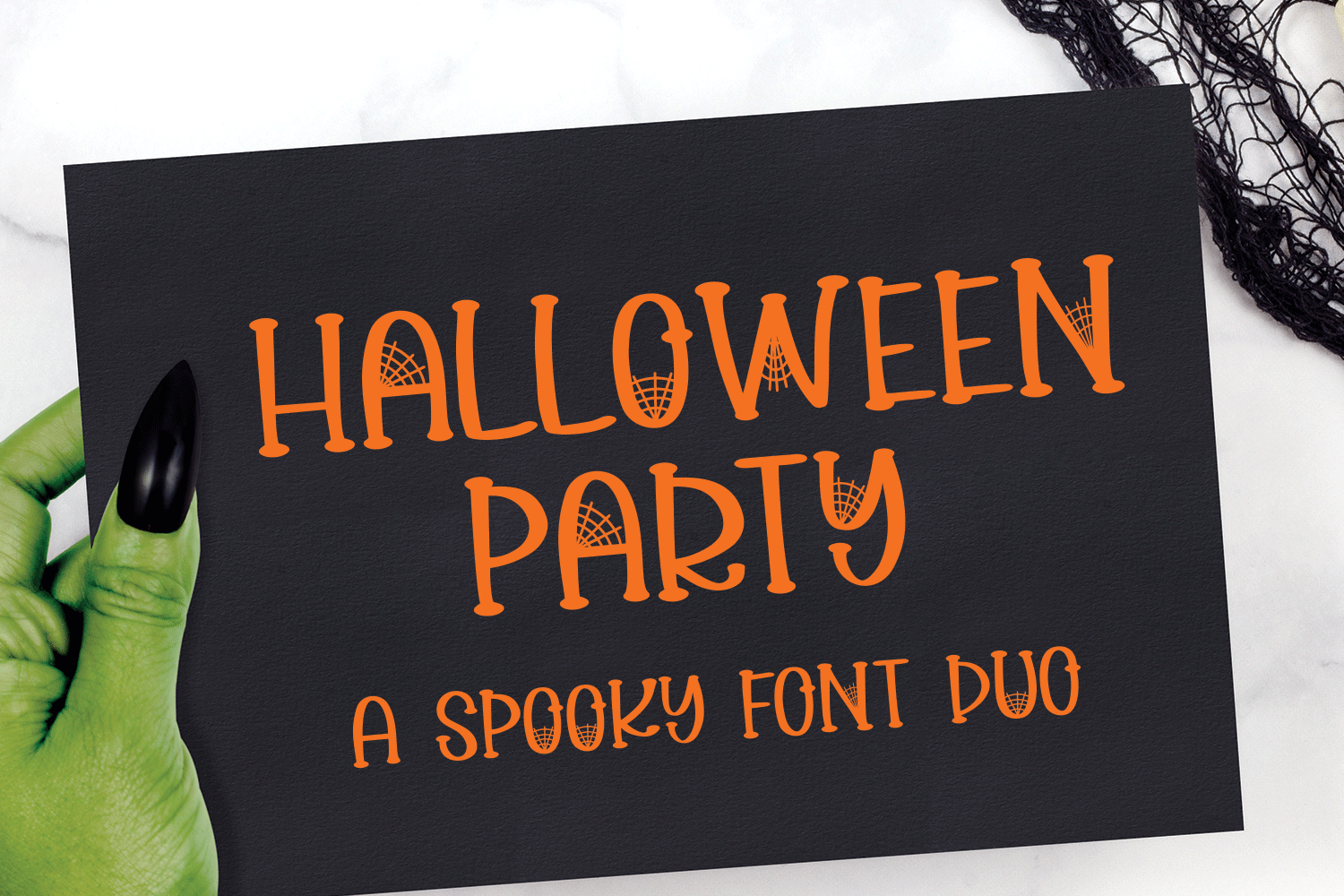 Halloween Party - A Spooky Font Duo example image 1