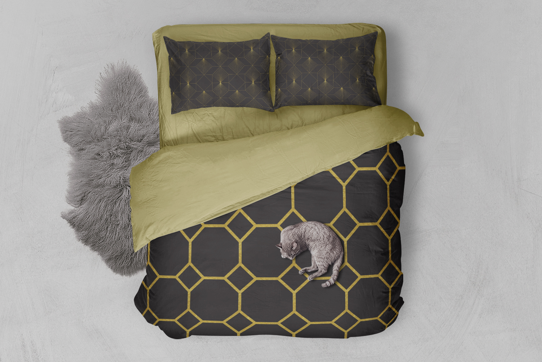 8 Seamless Art Deco Patterns - Black & Gold Set 2 example image 3