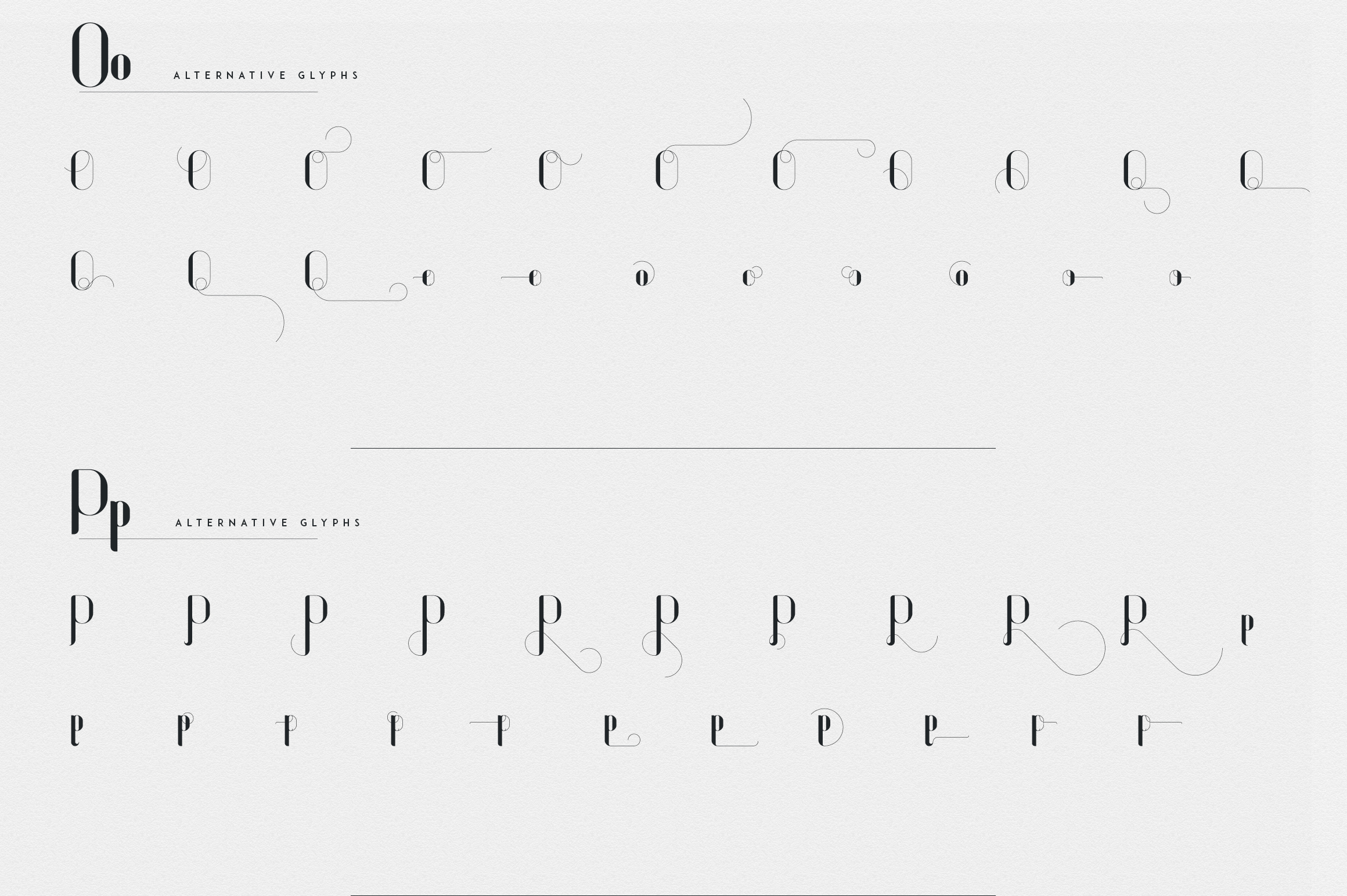 Fonatik Display font Extras example image 18