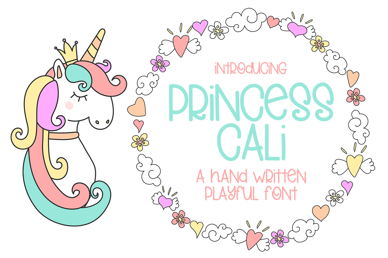 Princess Cali - A Hand Written Playful Font example image 1