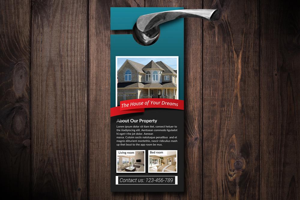Real Estate Door Hangers example image 1