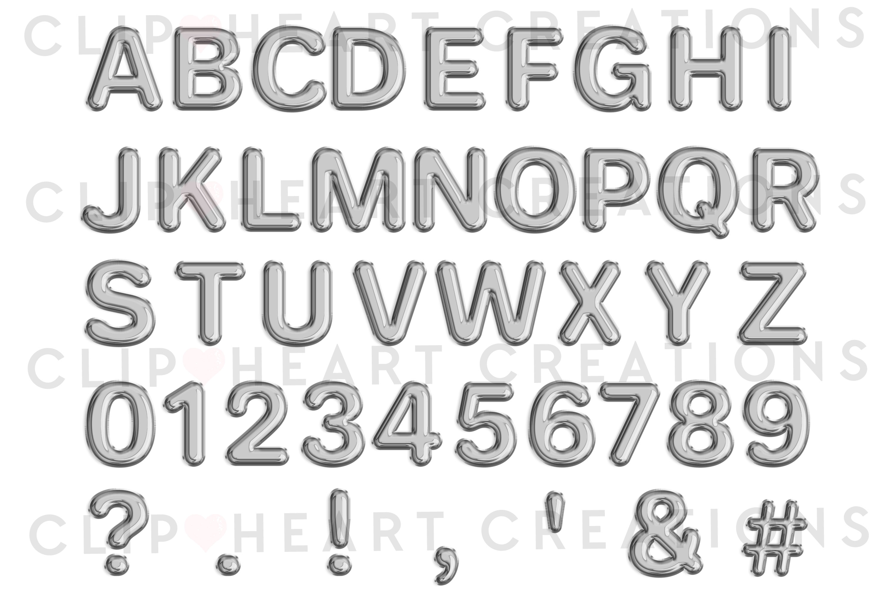 Silver Foil Balloon Alphabet & Numbers example image 2