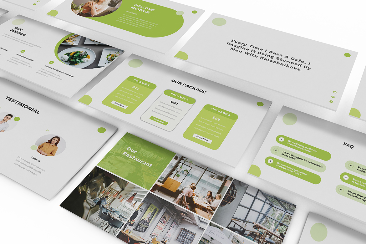 Food Powerpoint Template example image 3