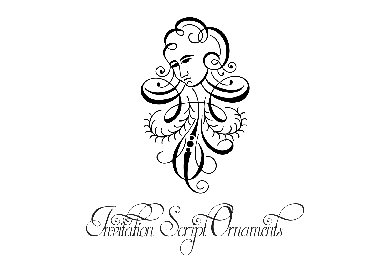 Invitation Script Ornaments  example image 8