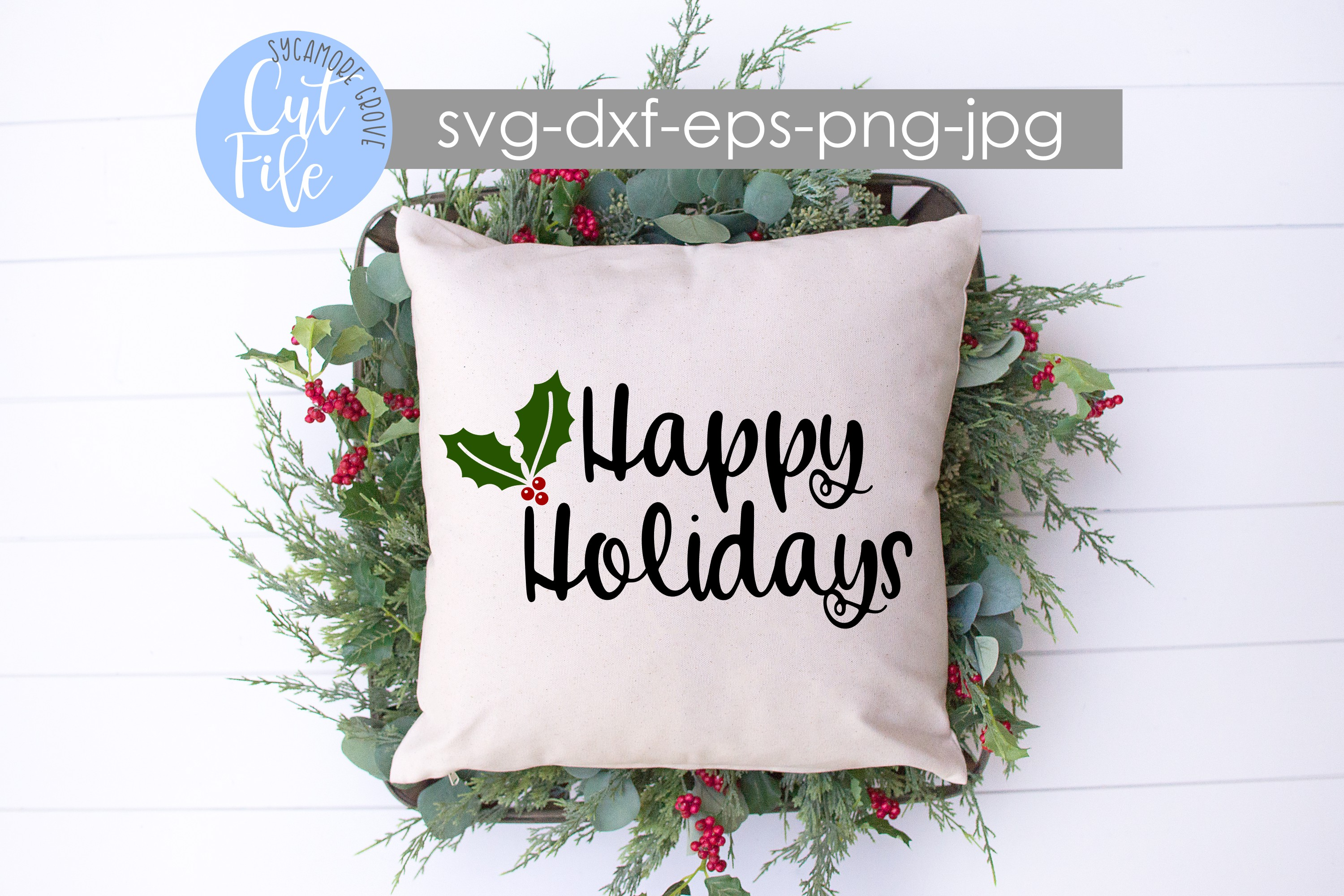 Happy Holidays SVG example image 2